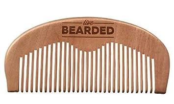 Live Bearded Beard Comb - All Natural - 100% Wooden Beard Comb
