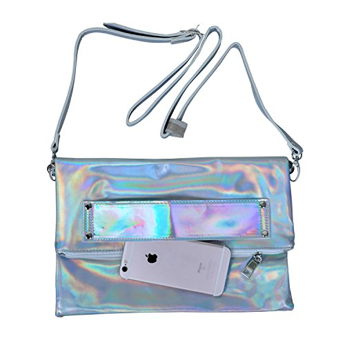 bag for Clutch Women Bag PU Bag Crossbody Handbag EBTOYS Girls Shoulder Holographic q8IWz