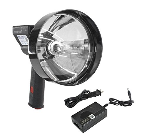 5 Million Candlepower Handheld Rechargeable Spotlight - 100W Halogen - Spot / Flood - 5''/7'' Lens(-5) by Larson Electronics