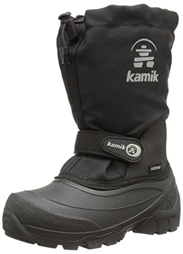 Kamik Snoday Insulated Winter Boot (Toddler/Little Kid/Big Kid), Black, 8 M US Toddler