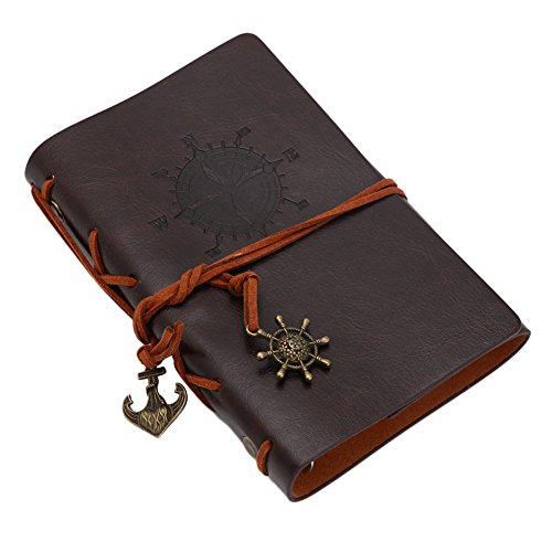 Delight eShop Classic Vintage Retro Leather Notebook Journal Travel Notepad Blank Diary (Coffee)