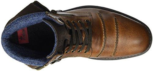 Rieker Herren 33312 Kurzschaft Stiefel Braun (marron/cigar/aqua / 25)