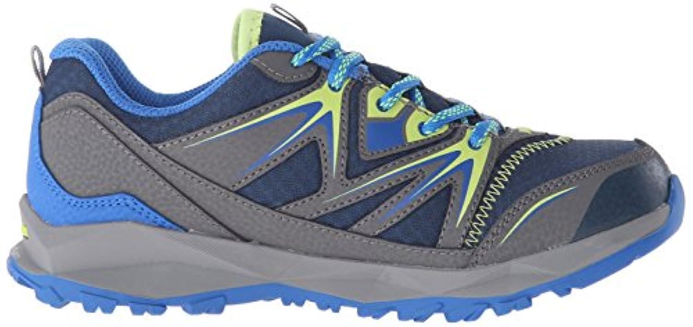 Merrell Capra Bolt Lace Waterproof, Unisex Kid's Lace-Up Low Rise Hiking - Multicolour (Navy/Citron), 1 Kid's UK