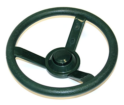 Eastern Jungle Gym Green Plastic Steering Wheel Swing Set Accessory for Wood Backyard Play Set (Set Wheel Swing Steering)