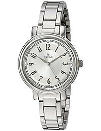 Titan Women's 2554SM01 Neo Analog Display Analog Quartz Silver Watch