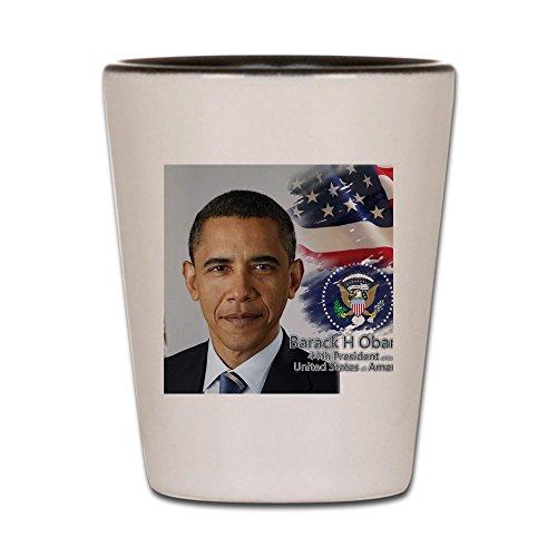 CafePress - Obama Calendar 001 Cover - Shot Glass, Unique and Funny Shot ()