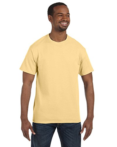 Gildan Men's Heavy Cotton Short Sleeve T Shirt Yellow Haze L