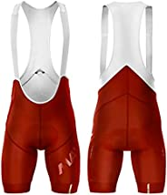 Cycling Bib Shorts for Men Road Bike Trousers with Lightweight Shoulder Straps, 12D Gel Pad and Non-Slip Webbi