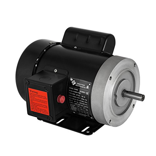 VEVOR 0.75 Hp Electric Motor with Flange Rated Speed 1725 RPM Single Phase Motor AC 115/230V Air Compressor Motor Suit for Agricultural Machinery and General Equipment