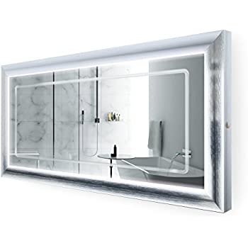 Large 60 Inch X 30 Inch Led Bathroom Mirror Lighted Vanity Mirror Includes