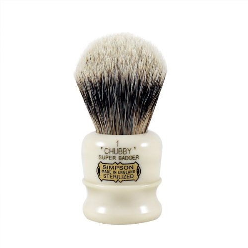Simpsons Chubby 1 Super Badger Shaving Brush (Simpson Chubby 2 Best Badger)