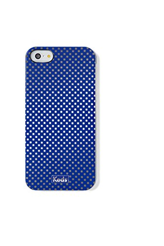 Keds High Gloss Hard Shell iPhone 5/5s Case - Retail Packaging - Blue/Silver