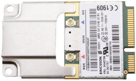 H5321GW HSPA+21Mbps 3G WWAN Card Use for Thinkpad x1 Carbon X230 W530 T430 E520 Interno Unidad de Disco óptico