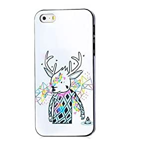 YULIN Reindeer Pattern Hard Case for iPhone 5/5S