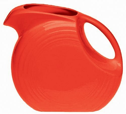 Fiesta 67-1/4-Ounce Large Disk Pitcher, Scarlet (Fiesta Dinnerware Pitcher compare prices)