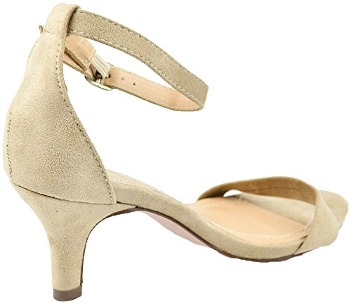 Chase 1 Kira Covered Strap Sandal Chloe Ankle Suede Nude Buckle Heeled amp; Low With BrwEBqptx