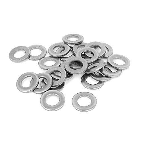 Silber Ton Edelstahl 316 Flach Waschmaschine 1/2-Zoll 25 Stück für Schrauben, Modell:, Tools & Baumarkt