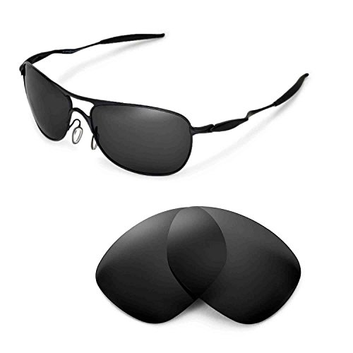 Oakley Crosshair Replacement Lenses - Walleva Replacement Lenses for Oakley Crosshair (2012 or later) Sunglasses - Multiple Options Available (Black - Polarized)