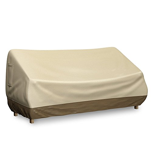 Home-Complete Bench Cover for Outdoor Loveseat or Patio Sofa - Fits seats up to 58 inches - Water Resistant and Durable Protective Fabric Cover (Outdoor Bench Seat Covers)
