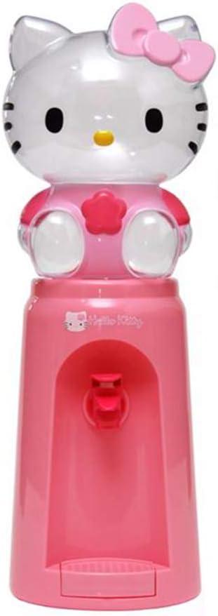 Dispensador de agua para dormitorio con dispensador de agua de 2 litros, dispensador de agua para niños, dispensador de agua para escritorio, botella de agua con diseño de Hello Kitty, dispensador de