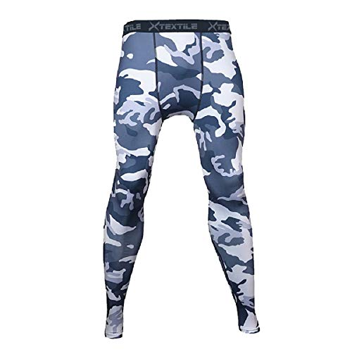 Xtextile Mens Camouflage Sports Compression Tight Leggings (Large, ()