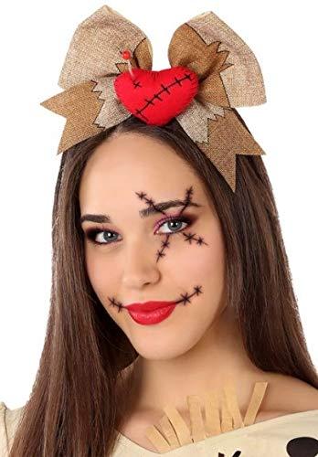 Ladies Cute Voodoo Doll Halloween Headband Hairband Fancy Dress Costume Outfit Accessory by Fancy Me