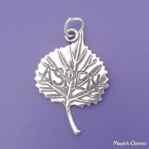 OutletBestSelling Beads Bracelet Sterling Silver Aspen Leaf Colorado Charm (Aspen Leaf Beads)