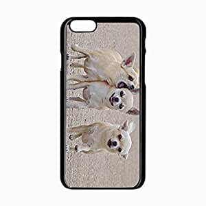 iPhone 6 Black Hardshell Case 4.7inch dogs walk Desin Images Protector Back Cover