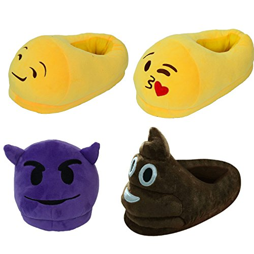 Comfort Women Girl Slippers Devil Shoes Funny Warm Home Cute Indoor Emoji Plush Gaorui Winter qFw6vAxt
