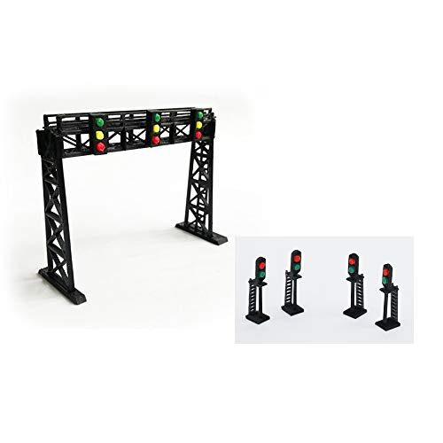 outland models Train Railway Layout Signal Gantry and Block Signal Set N Scale