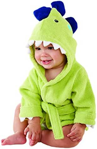 Baby Aspen, Splash-a-Saurus Dinosaur Hooded Spa Robe, Green, 0-9  Months