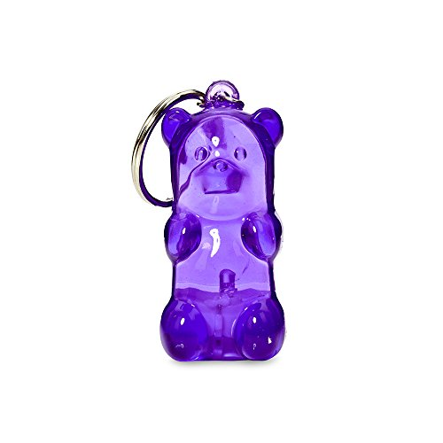 Gummygoods Bite-Sized Gummy Bear Keychain Nightlight in Purple