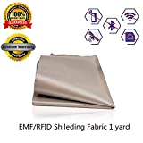 RFID EMF Shielding Nickel Copper Fabric Signal Blocking Material 1 Yard,EMF Shielding, Cell Phone Signal Blocking, Fabric Shielding Fabric (44'' x 36'')