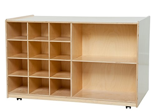 Wood Designs WD16609 Double-Sided Mobile Storage without Trays, 30 x 48 x 29