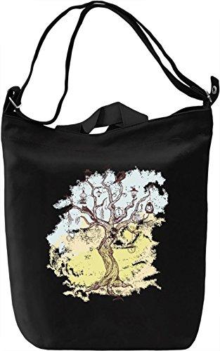 Tree Borsa Giornaliera Canvas Canvas Day Bag  100% Premium Cotton Canvas  DTG Printing 
