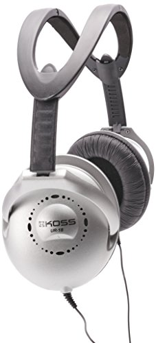 Koss UR18 Collapsible Home Headphones Silver Finish with 3.5mm Jack ()