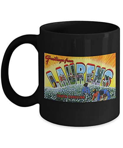 (Greetings from Laurens South Carolina, Vintage Large Letter Postcard Design: Ceramic Coffee Mug)