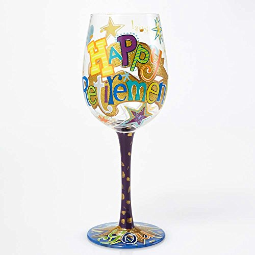 Lolita Wine Glass with Westwood Gourmet Bottle Opener (Happy Retirement) (Wine Glass Grandma Lolita)