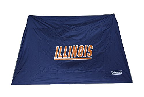 Zeckos NCAA Illinois Fighting Illini 10x10 Slant Leg Canopy Shelter Wall