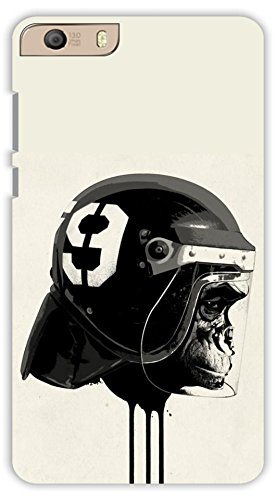 be48e0a87 Crazy Beta MONKEY WITH HELMET Printed Back Cover For: Amazon.in ...