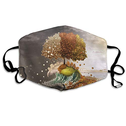Lojaon Dustproof Face Mouth Cover Mask - Warm Respirator Artistic-seasons-23882-1920x1200 Print Earloop Mask for $<!--$12.57-->