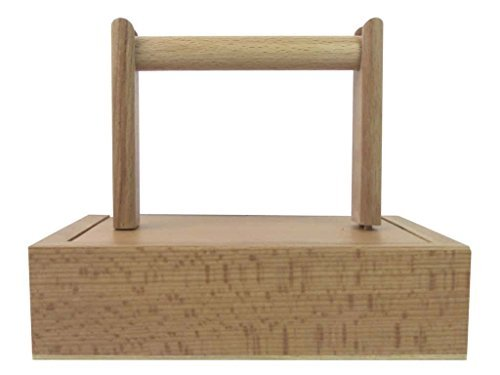 Wood Yarn Winder Holder Spinning with Storage (5.5x7.5'' Box) by Sierra Pacific Crafts