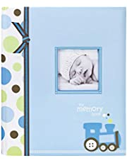 Lil Peach Train Baby Five Year Memory Book Photo Journal, Cherish Every Precious Moment Of Your Babys First Years, Perfect Baby Shower Gift, Blue