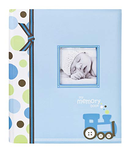 - Lil Peach Train Baby Five Year Memory Book Photo Journal, Cherish Every Precious Moment Of Your Babys First Years, Perfect Baby Shower Gift, Blue