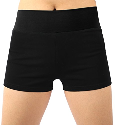 (Neonysweets Womens Workout Yoga Short Pants Exercise Gym Shorts Black M)