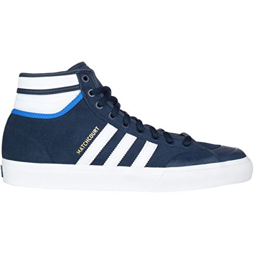 Adidas Heren Matchcourt High Rx2 Skate Schoen Collegiaal Navy / Footwear White / Bluebird