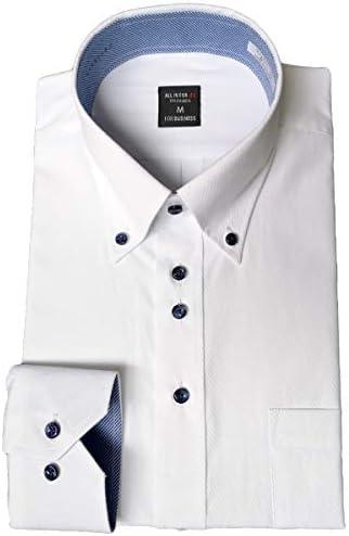 [パリス16ク] ワイシャツ メンズ 長袖 形態安定 ボタンダウン レギュラーカラー Yシャツ デザイン M L LL 3L 4L