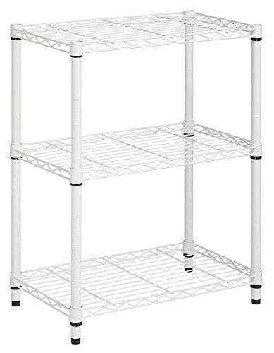 - Honey-Can-Do SHF-01904 3-Tier Shelving unit-250 lbs, 3-Tier, White
