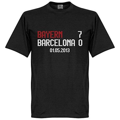 Bayern V Barcelona Aggregato Scoreboard t-shirt–nero–XS
