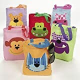Fun Express Canvas The Critter Club Animal Totes - 12 Pieces
